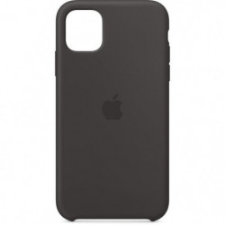 APPLE Coque Silicone Noir pour iPhone 11