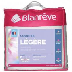 BLANREVE Couette légere en microfibre - 140 x 200 cm - Blanc