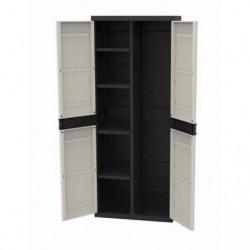 TITANIUM PLASTIKEN Armoire 2 portes avec étageres et penderie