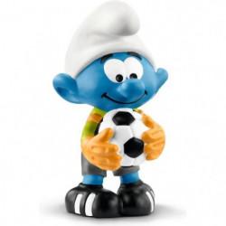 SCHLEICH - Figurine Smurfs 20808 Schtroumpf gardien de but