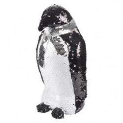 AUTOUR DE MINUIT Pingouins avec sequins - H 14cm - Noir