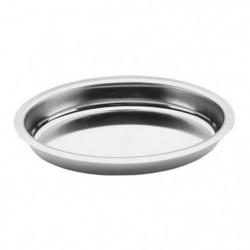 Plat a gratin ovale en inox - 35x21 cm