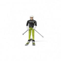 BRUDER - 60040 - Figurine Skieur avec accessoires - 10,7 cm