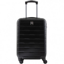 CITY BAG Valise Cabine Ultralight ABS 4 Roues Noir