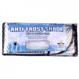 Protection anti givre pour pare brise - Blanc et aluminium