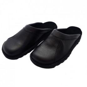 HTC Chaussures Clack routier en cuir - Mixte - Noir 37