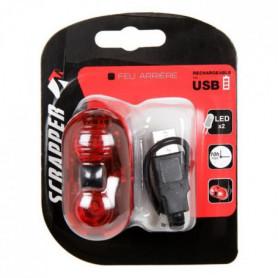 SCRAPPER Eclairage Vélo Arriere USB - Rouge