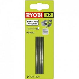 RYOBI 2 fers jetables (carbure) 50 mm pour rabot ONE+