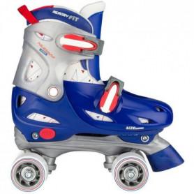 NIJDAM JUNIOR Rollers quad ajustables - Enfant - Bleu 118389