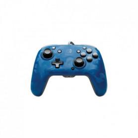 Manette filaire PDP Camouflage Bleu pour Switch