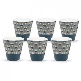 ABS T1904311-PX set de 6 tasses a café en porcelaine forme V