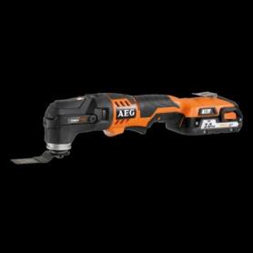 AEG POWERTOOLS Multitool 18V 2 batteries 2Ah Li-ion + accessoires