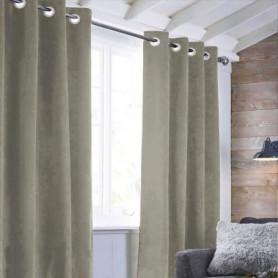 Rideau sueden 100% Polyester - Taupe - 140x250 cm