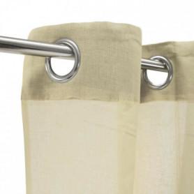 Voilage 100% coton - Beige clair - 105x250 cm
