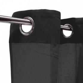 Voilage 100% coton - Noir - 105x250 cm