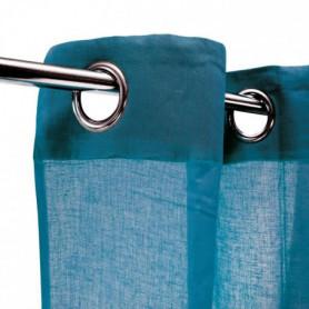 Voilage 100% coton - Bleu intense - 105x250 cm