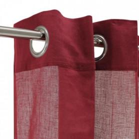 Voilage 100% coton - Rouge bourgogne - 105x250 cm