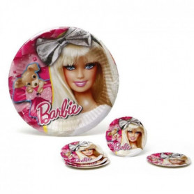 ATOSA Pack de 5 assiettes en carton - Collection Barbie - Fille 119115