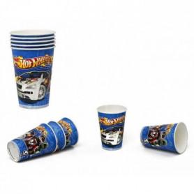 ATOSA Pack de 5 verres - Imprimé Hot Wheels - Garçon - 180/200 ml