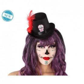 ATOSA - Chapeau Squelette Adulte Noir et Rouge