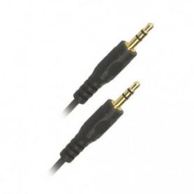 APM 418005 Câble Jack 3.5 mm stéréo Mâle / Mâle - Plugs or - 1.5m