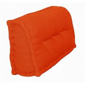 Dossier Cale-Reins 100% coton 60x22/11xH45 cm orange