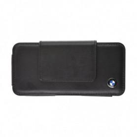 BMW Etui universel en cuir noir taille S - Noir