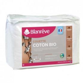 BLANREVE Couette tempérée Coton BIO - 300g/m² - 140x200cm