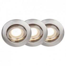 BRILLIANT Kit de 3 spots encastrable orientables LED Easy Clip Ø8cm