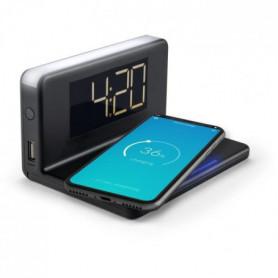 HCG018Qi/b Radio reveil  avec chargeur rapide Qi sans fil et USB