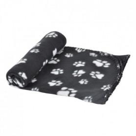 Plaid Pattou en polyester - 100x70 cm - Noir - Pour chien