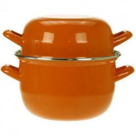 COSY & TRENDY Marmite a moule - 18cm Orange-1.2Kg-2.8L