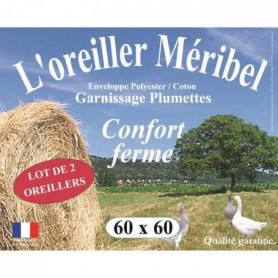 DODO Lot de 2 Oreillers MERIBEL Plumettes 60x60cm
