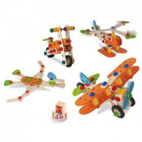 EICHHORN  Avion 4 En 1 Construction 85 pieces