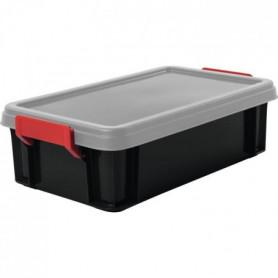 IRIS OHYAMA Lot de 4 boîtes de rangement empilables avec couvercle
