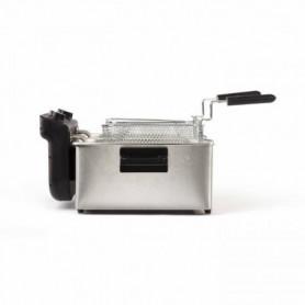 LIVOO DOC217 Friteuse double 2 x 3 L Inox 3300W - Noir + Gris
