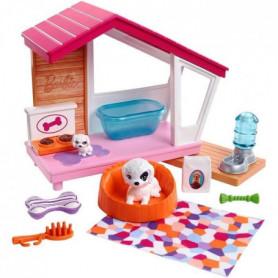 Barbie - Mobilier Maison pour Chien - Coffret Poupée Mannequin