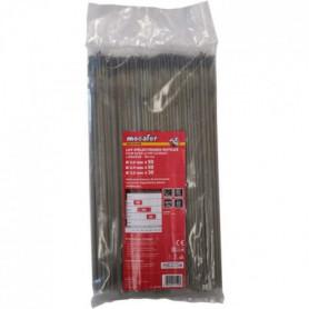 MECAFER Lot de 130 électrodes acier Mix Ø 2 mm-2.5 mm-3.2 mm 300mm