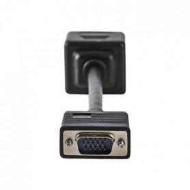NEDIS VGA Cable - VGA Male  -  2x VGA Female - 0.2 m - Noir