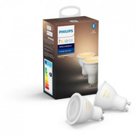 PHILIPS HUE Pack de 2 ampoules White Ambiance - 5,5 W - GU10