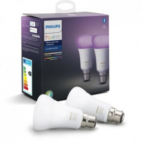 PHILIPS HUE Pack de 2 ampoules White & Color Ambiance - 10W - B22