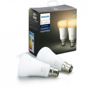 PHILIPS HUE Pack de 2 ampoules White Ambiance - 9,5 W - B22