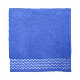 SANTENS Serviette de bain 100 % Coton Pat - 68 x 140 cm - Bleu