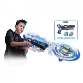 SPINNER MAD by Silverlit Un mega blaster double tir + 2 toupies LED