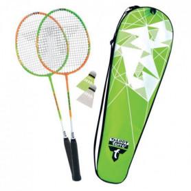 TALBOT TORRO Set de Badminton 2 Attacker - 2 raquettes - 2 volants