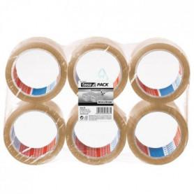 TESA Ruban adhésif d'emballage carton - Lot de 6 - 66m x 50mm