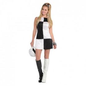 AMSCAN Mod 60 ' s Costume Femme - Robe + Chapeau + Lunettes