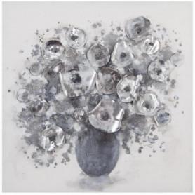 Toile peinte - 58 x 58 cm - Gris