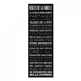Toile imprimée Regles de la famille - 30 x 90 - Noir