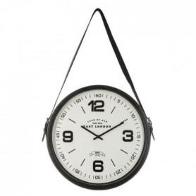 Pendule ceinture en métal- Ø 38 cm - Noir